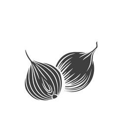 onion glyph icon vector image