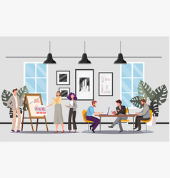 people in office flat vector image