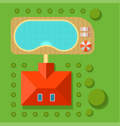Plan of private house top view vector