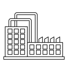 Power plant icon outline style vector