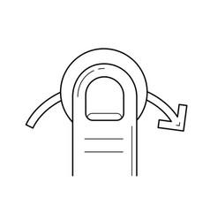 Quick swipe right line icon vector