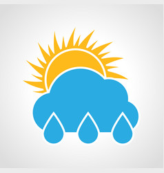 rain sunny day icon vector image