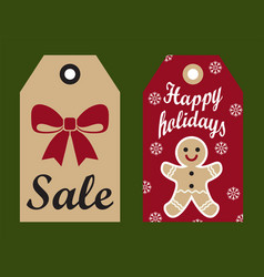 sale happy holidays set on vector image