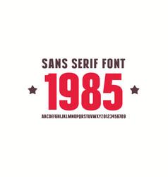 Sans serif font bold face vector
