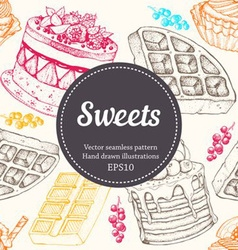 seamless pattern sweets vector image