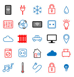 Set of 25 icons internet of things vector