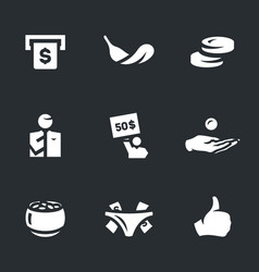 set of easy money icons vector image
