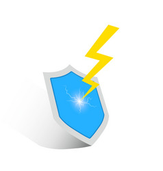 shield and lightning icon vector image