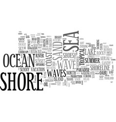 Shore word cloud concept vector