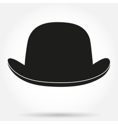 Silhouette symbol of bowler hat on a white vector image