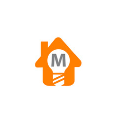 smart home initial m vector image