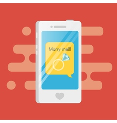 smartphone with the text message inside Speech vector image