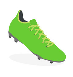 soccer boot football leather shoe sport footwear vector image