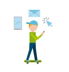 social media marketing business vector image