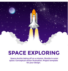 space exploring vector image