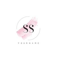 Ss s s watercolor letter logo design vector