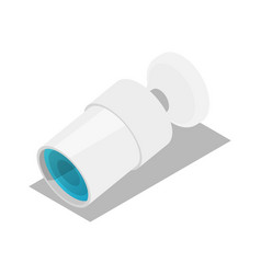 surveillance camera isometric 3d icon vector image