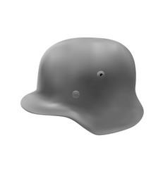 The german helmet in vector