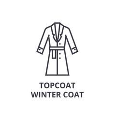 Topcoat winter coat line icon outline sign vector