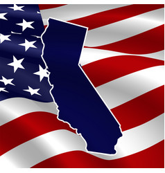 united states california dark blue silhouette vector image