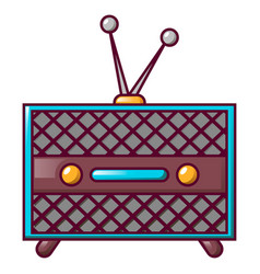 vintage retro radio icon cartoon style vector image