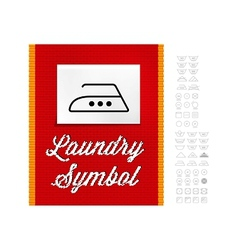 Washing symbols vector image