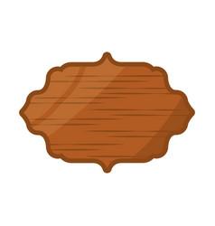 wooden emblem blank vector image