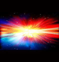 abstract background with stars and supernova vector image