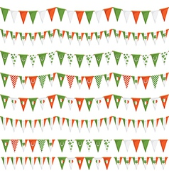 irish party bunting vector image vector image