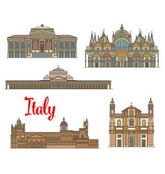 italian travel landmarks of arts and religion vector image