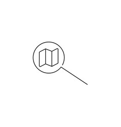 map search line icon vector image
