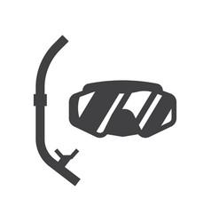 scuba diving mask vector image vector image