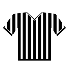 silhouette jersey referee american football vector image vector image