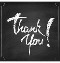 Thank You Chalk Hand Drawing Greeting Card vector image vector image
