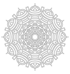 adult coloring book floral abstract mandala vector image vector image