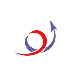 circle loop arrow up logo vector image