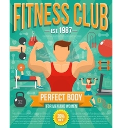 Fitness Poster vector image vector image