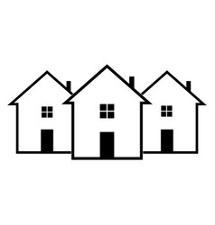 icon house on a white background vector image