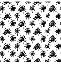 tropical palm brush seamless pattern vector image vector image