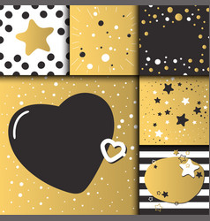 beautiful birthday invitation card design gold and vector image vector image