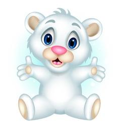 cute polar bear cartoon vector image vector image