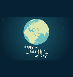 Flat earth day style collection vector