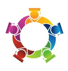teamwork students vector image