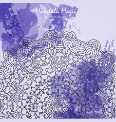 watercolor flower mandala vector image