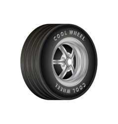 Car wheel for sport vector