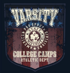 football college camp vector image vector image