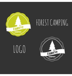 Forest Camping wilderness adventure badge graphic vector image