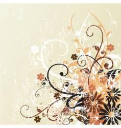 Grunge floral design background vector