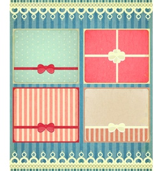 set of four retro Holiday backgrounds vector image vector image