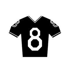 Silhouette jersey american football tshirt uniform vector